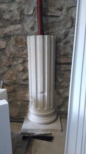 Fût pour demi-colonne