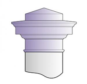 Chapiteau carré (pour pilier)